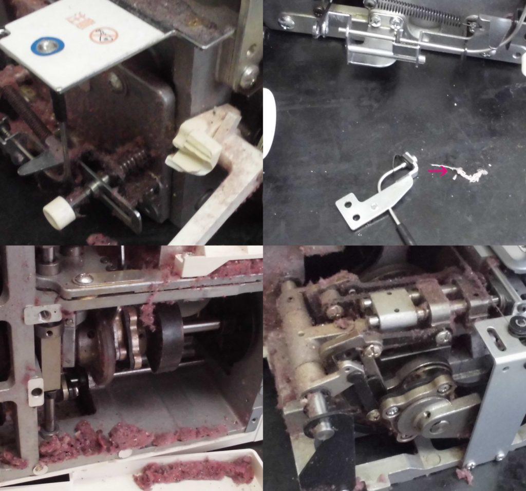 BL72Sの故障・不具合|はずみ車が固くミシンが動かない、エアスルーの故障