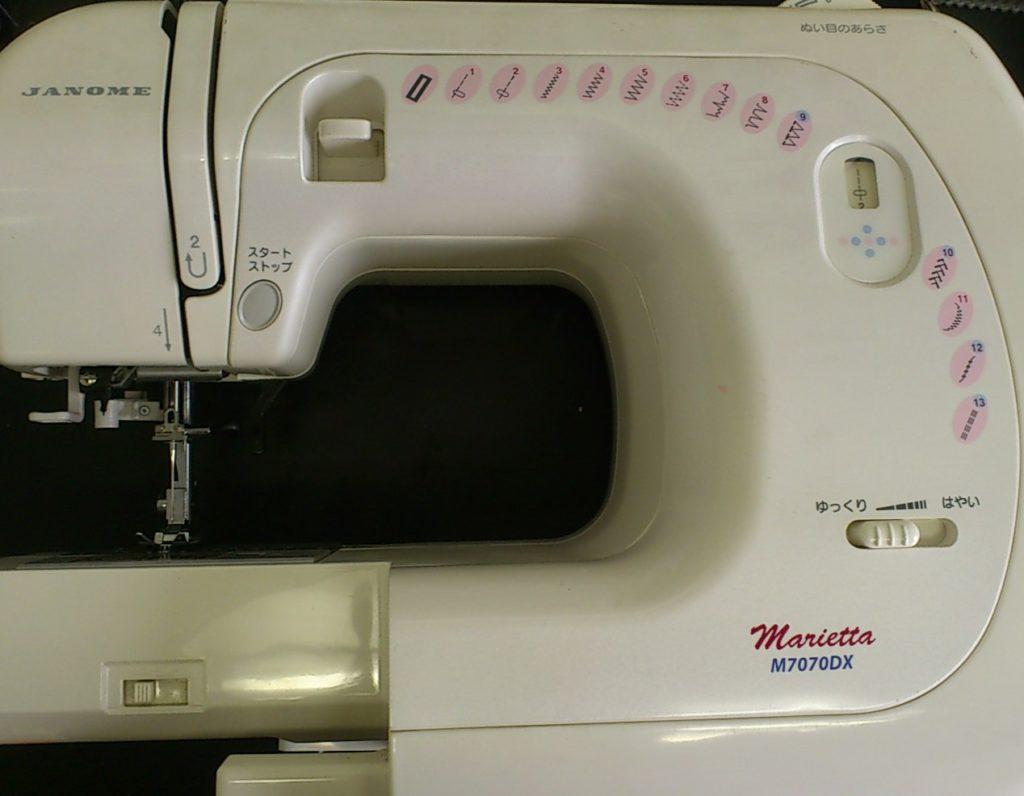 ジャノメミシン修理|Marietta7070DX|下糸をすくわず縫えない