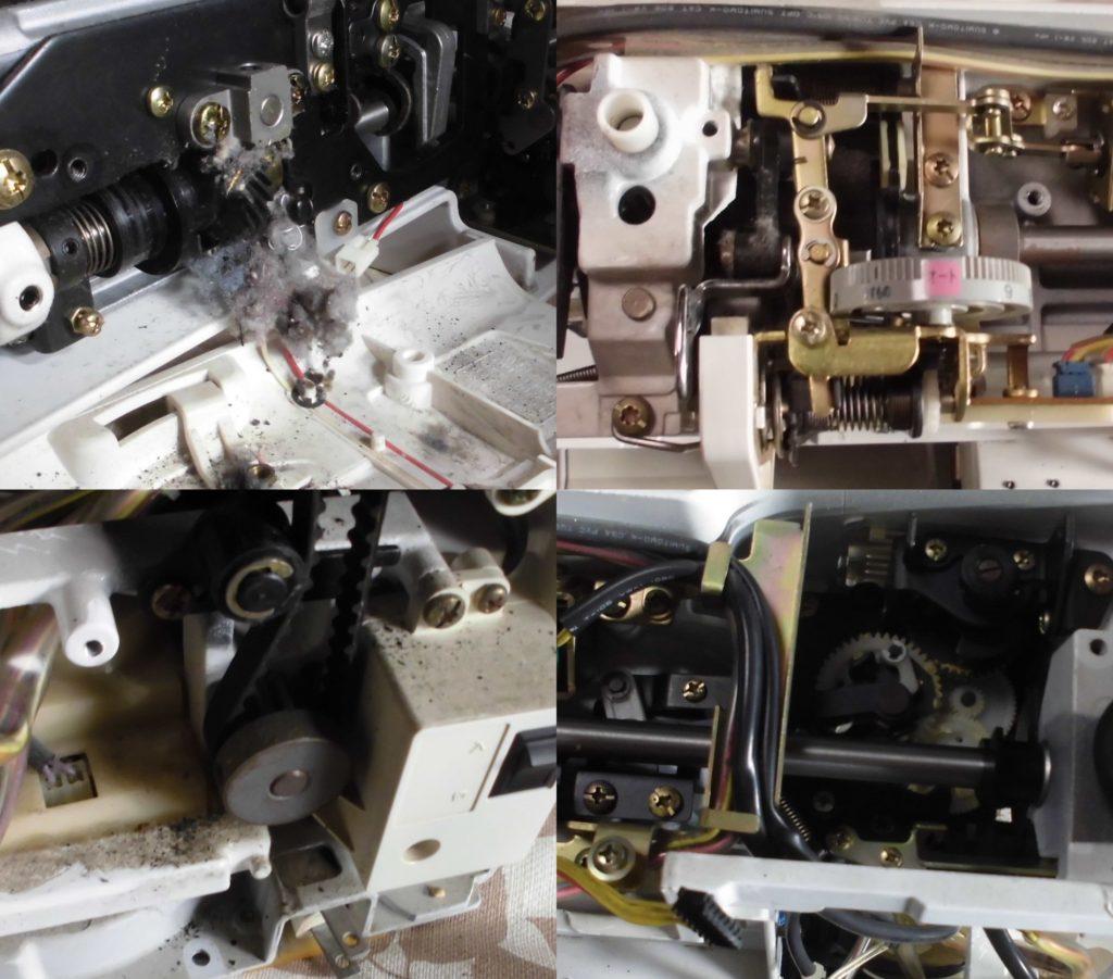 SECIO8210の分解オーバーホールメンテナンス修理|ジャノメミシン