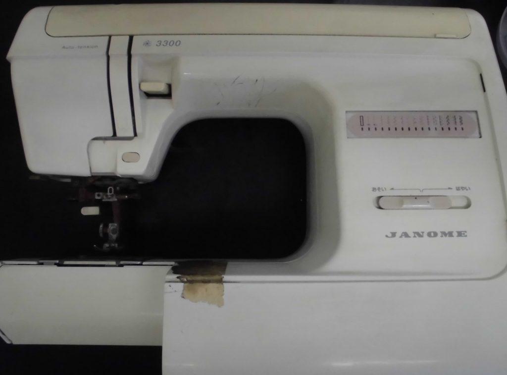 JANOMEミシン修理|ジャノメ3300型|異音がする、下糸が巻けない