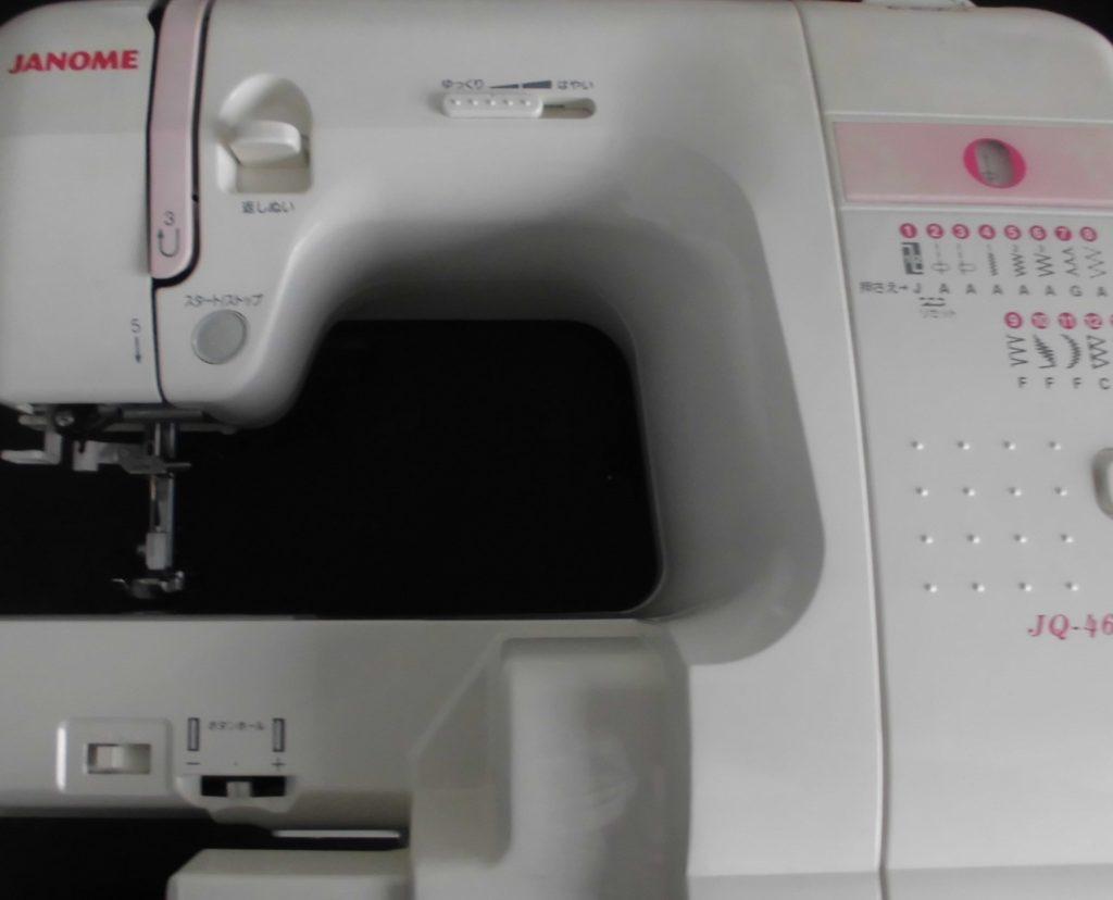 JANOMEミシン修理|JQ-460|503型|返し縫いしない