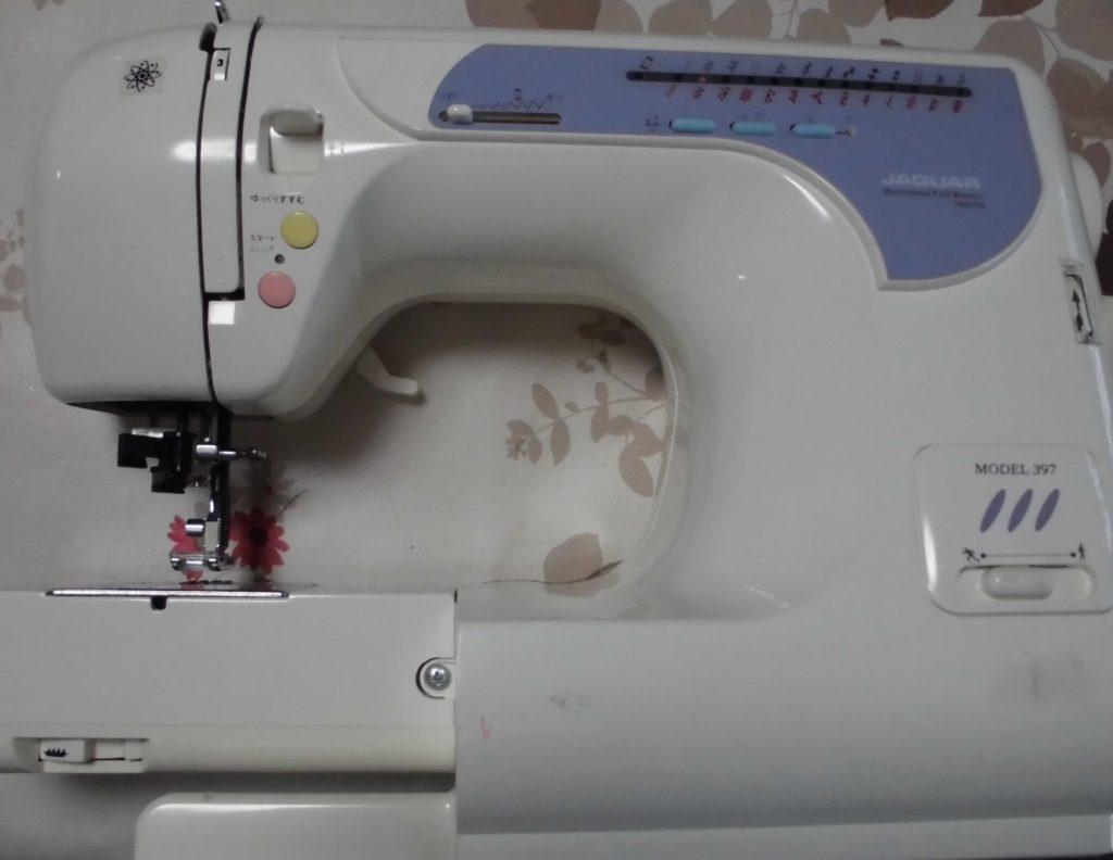 JAGUARミシン修理|MODEL397|縫い目長さを切り替えるダイヤルが固くて回らない|スーパー模様への切り替えなどできない