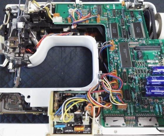 AT-3800(ぬいひめEX)の分解オーバーホールメンテナンス修理 JUKIミシン