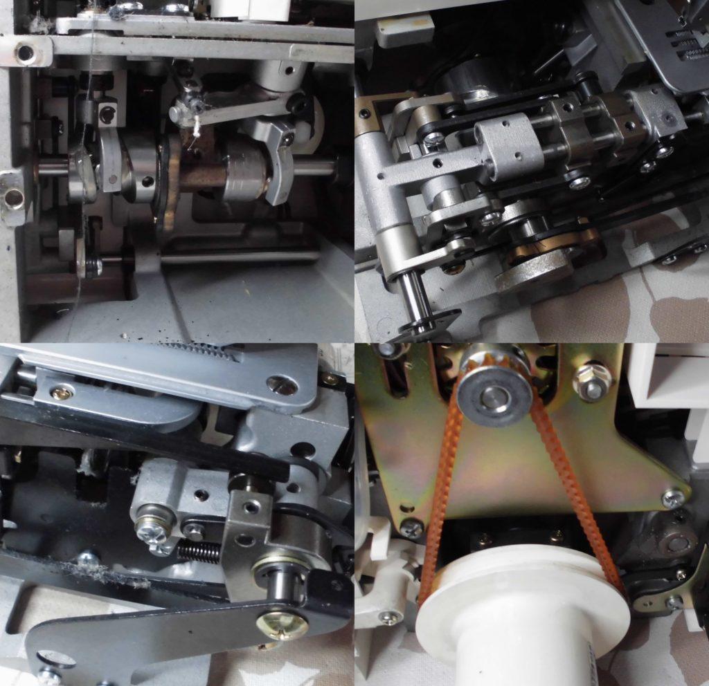 衣縫人(2本針4本糸ロックミシン)の分解オーバーホールメンテナンス修理|(株)ジューキbabylockミシン