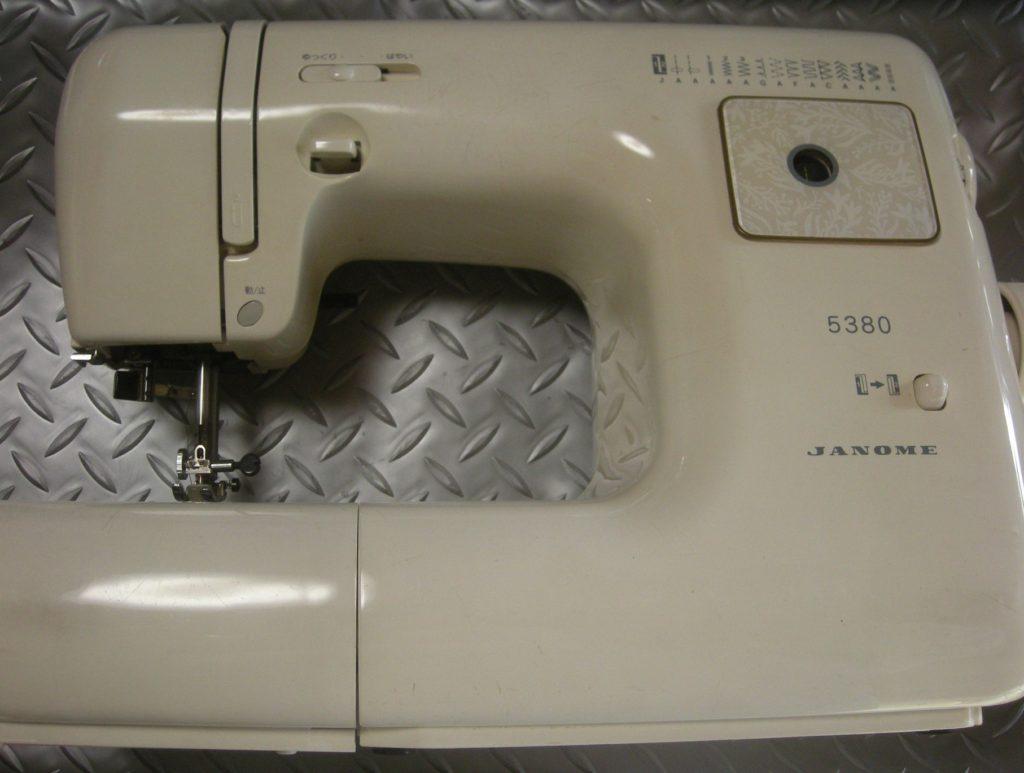 JANOMEミシン修理|model5380|下糸が巻けない|動かない