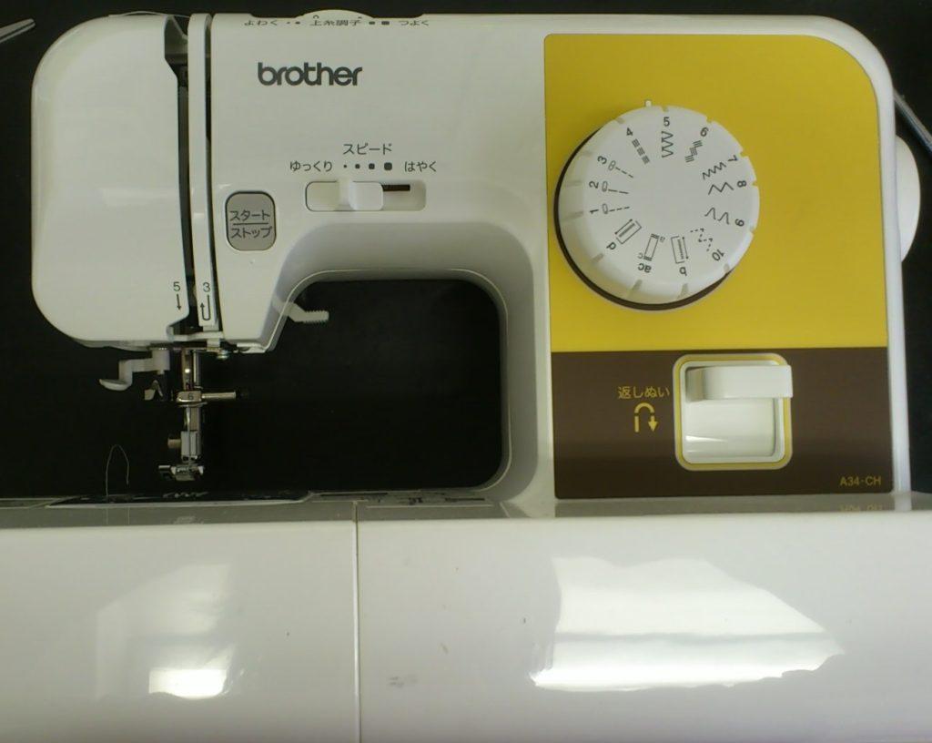 brotherミシン修理|ELU53|A34-CH|布を挟むと針が下がらない