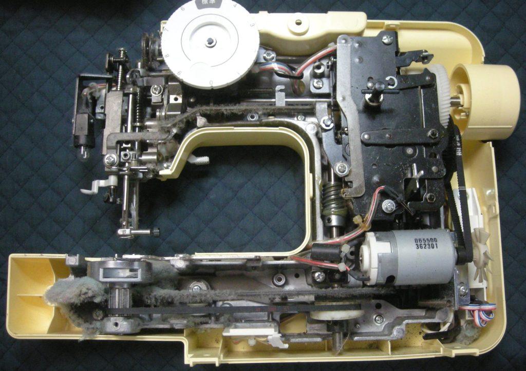 EL117(プーさん)の分解オーバーホールメンテナンス修理|brotherミシン