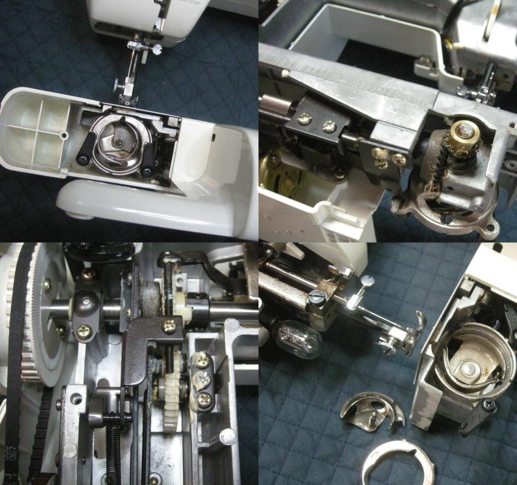 QT-7000の分解オーバーホールメンテナンス修理 SINGERミシン