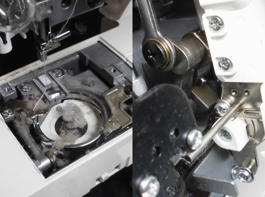 Y101DXの故障、不具合|縫えない、下糸をすくわない、ジグザグが縫えない