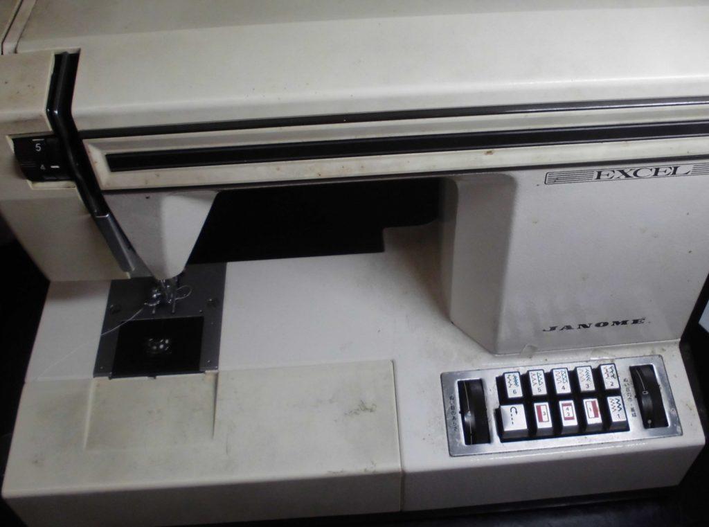 ジャノメミシン修理 エクセル JANOME625型 糸調子不良、メンテナンス