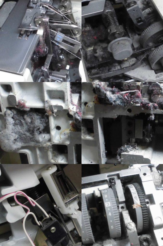 TE4-965の分解オーバーホールメンテナンス修理|ブラザーロックミシン修理
