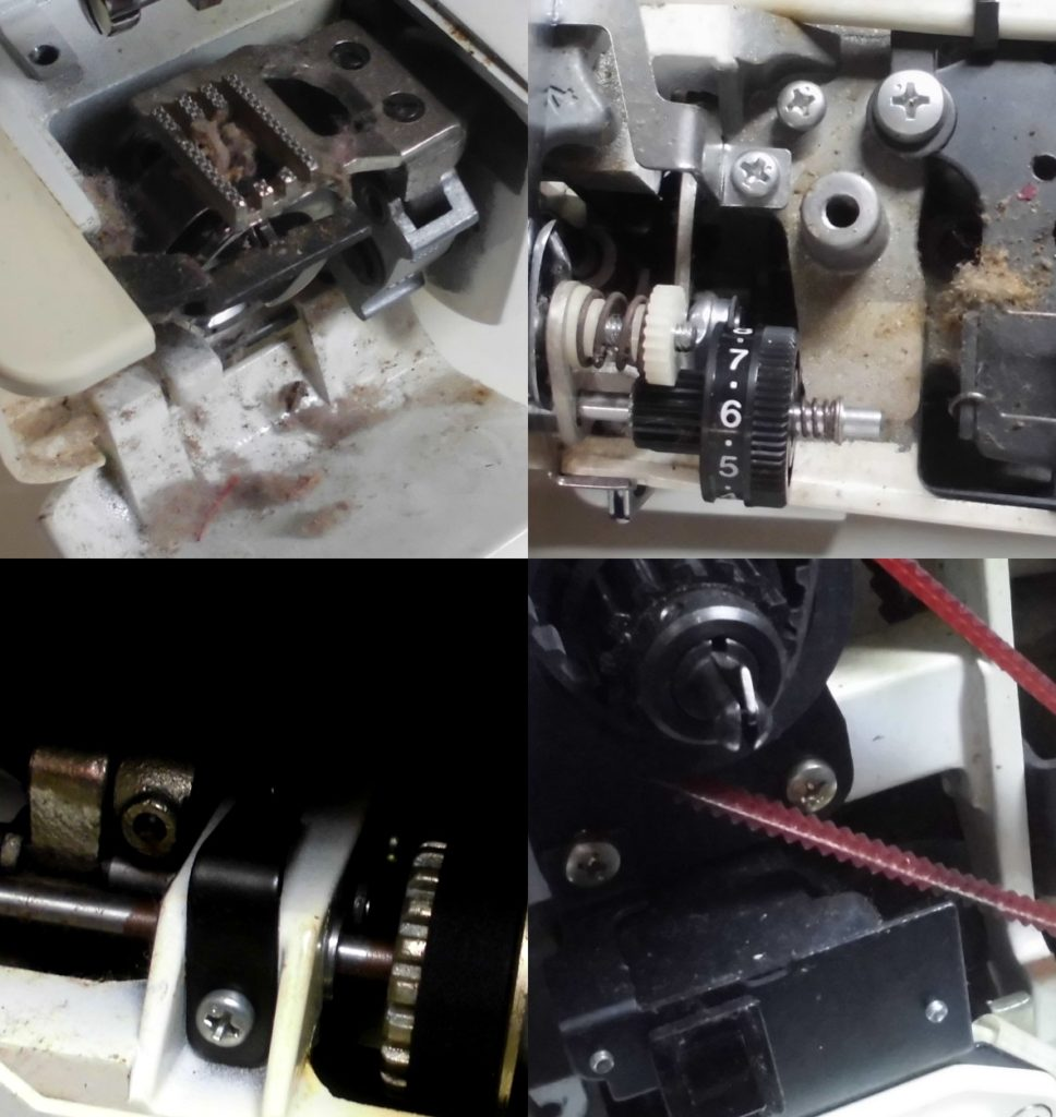 RICCAR9150の分解オーバーホールメンテナンス修理|リッカーミシン修理