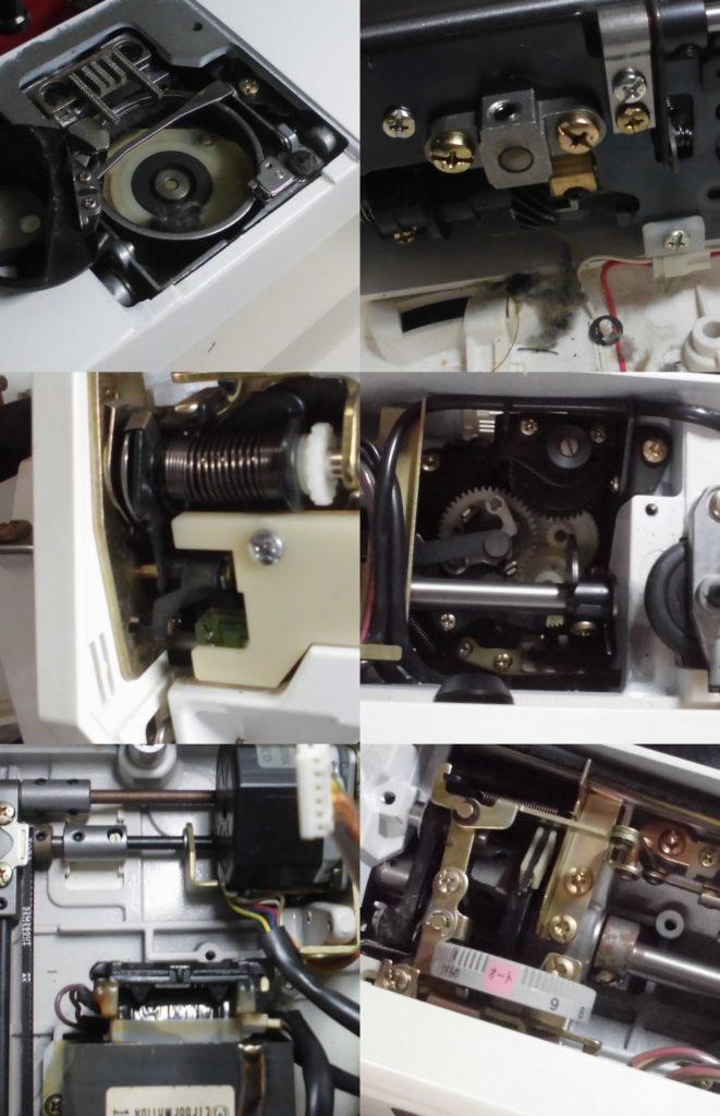 SECIO8200の分解オーバーホールメンテナンス修理|ジャノメミシン修理