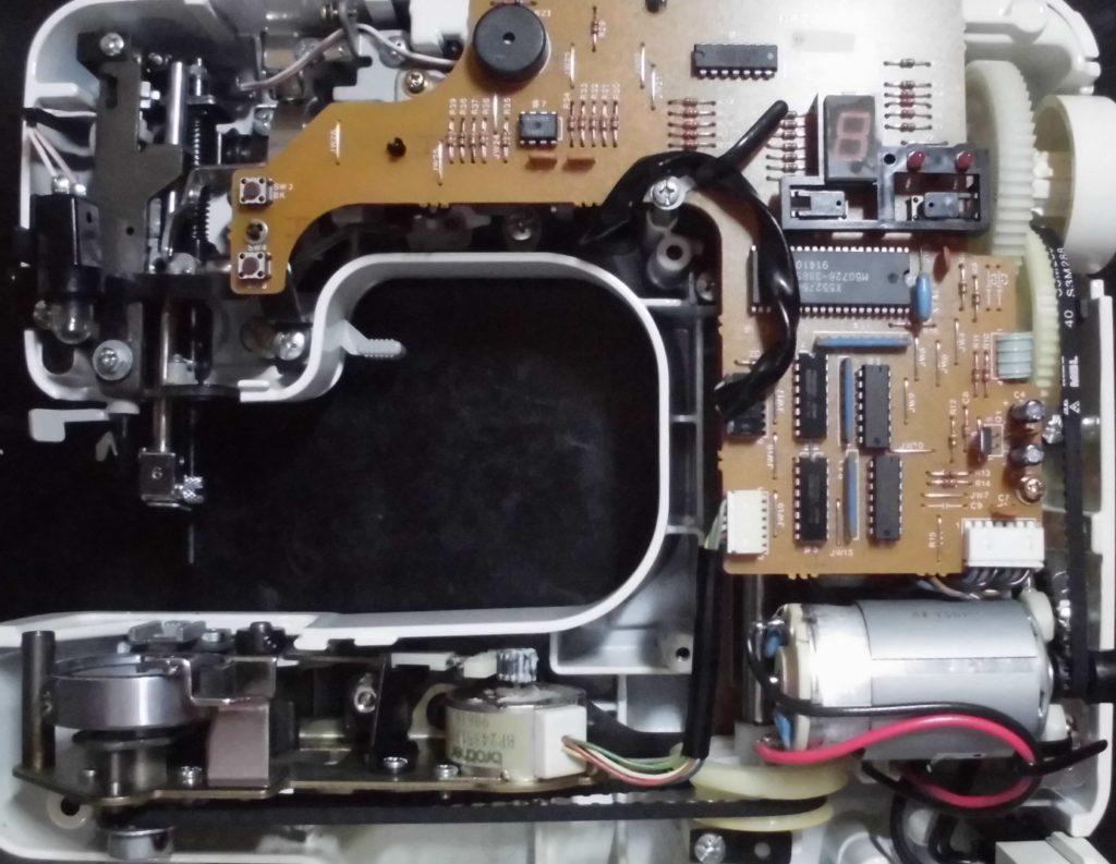 ZZ3-B122Nの分解オーバーホールメンテナンス修理 ブラザーミシン修理