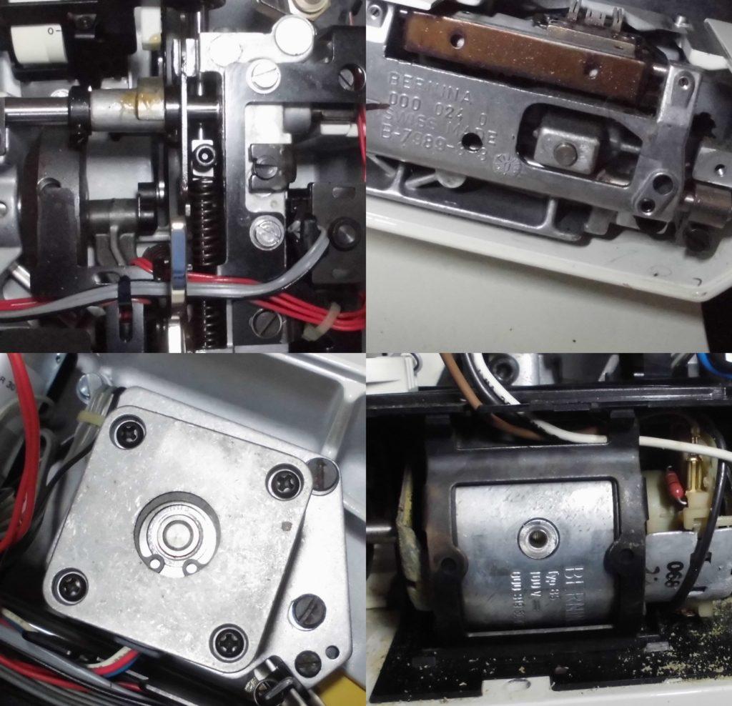 ホリデーヌ1240の分解オーバーホールメンテナンス修理 ベルニナミシン修理