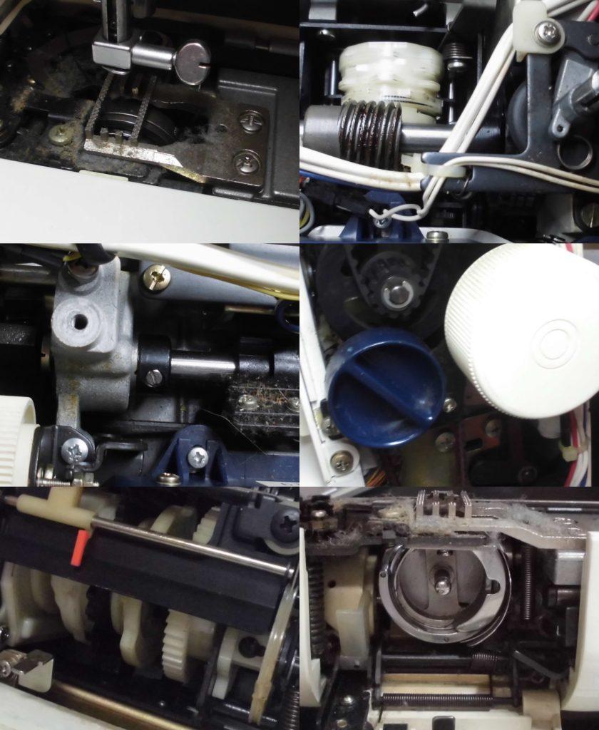 HZL-5000の分解オーバーホールメンテナンス修理 JUKIミシン修理