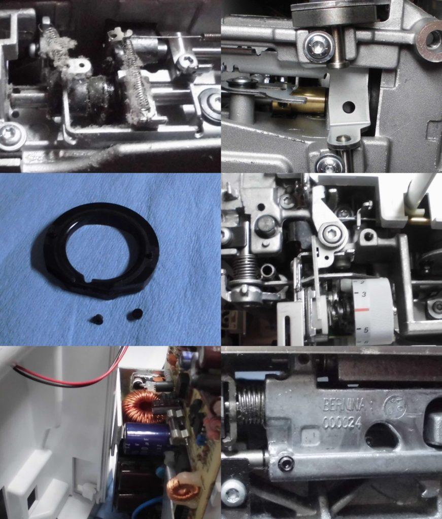 ヴィルティオーゾ153の分解オーバーホールメンテナンス修理 ベルニナミシン修理