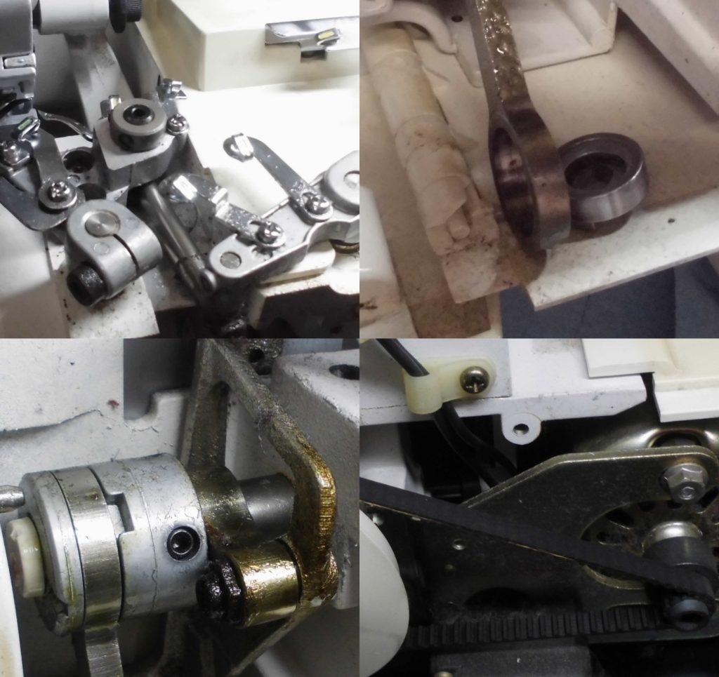 BL3-437Mの全体メンテナンス修理|(株)ジューキbabylockミシン