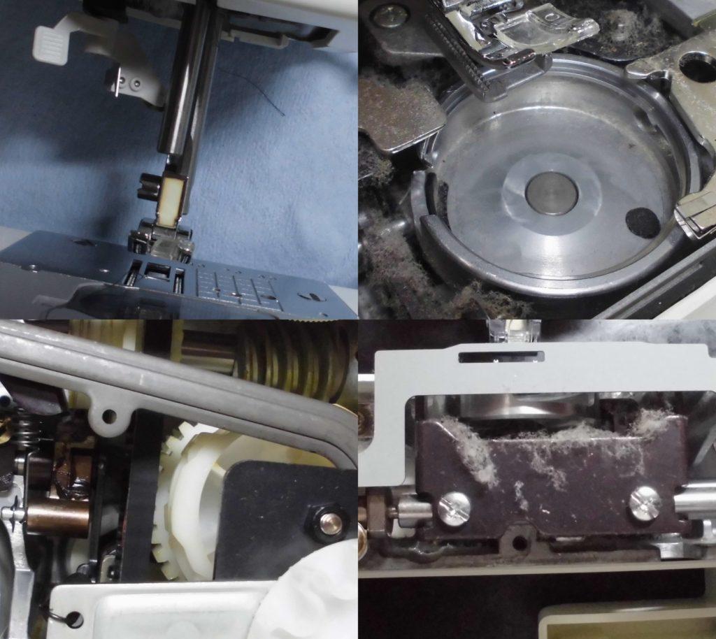EL617の故障、不具合|針が部品ごと取れた、縫えない、返し縫いしない