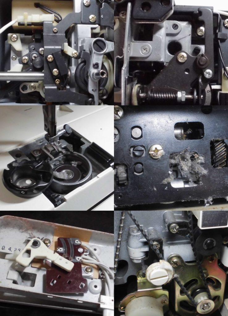 メモリア5001の分解オーバーホールメンテナンス修理|ジャノメミシン修理