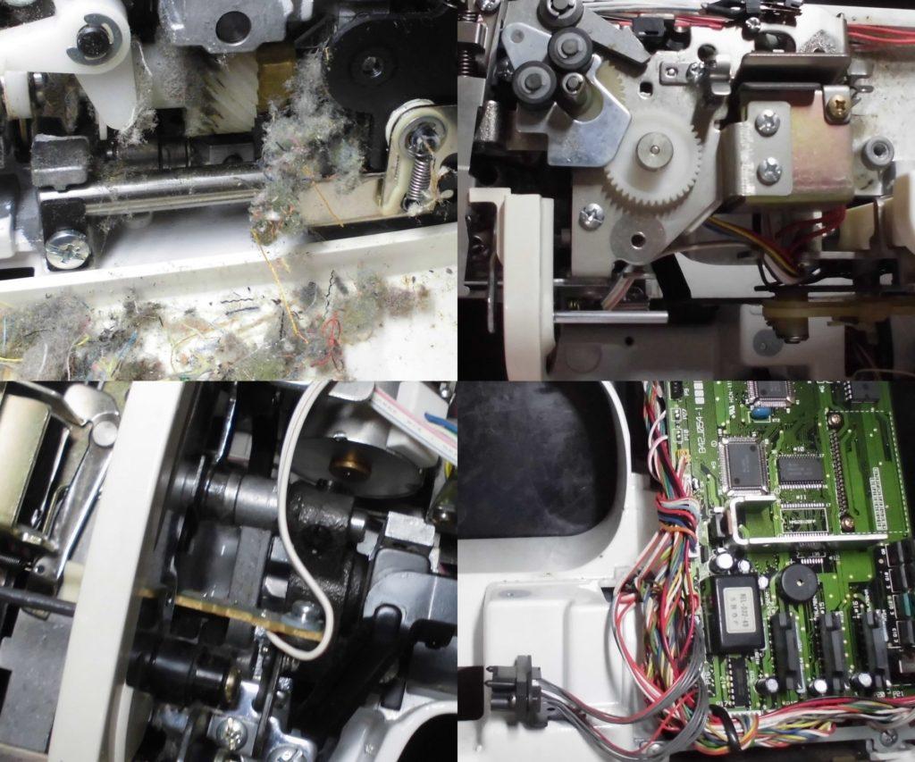 ZZ3-B897の分解オーバーホールメンテナンス修理 ブラザー刺繍ミシン修理