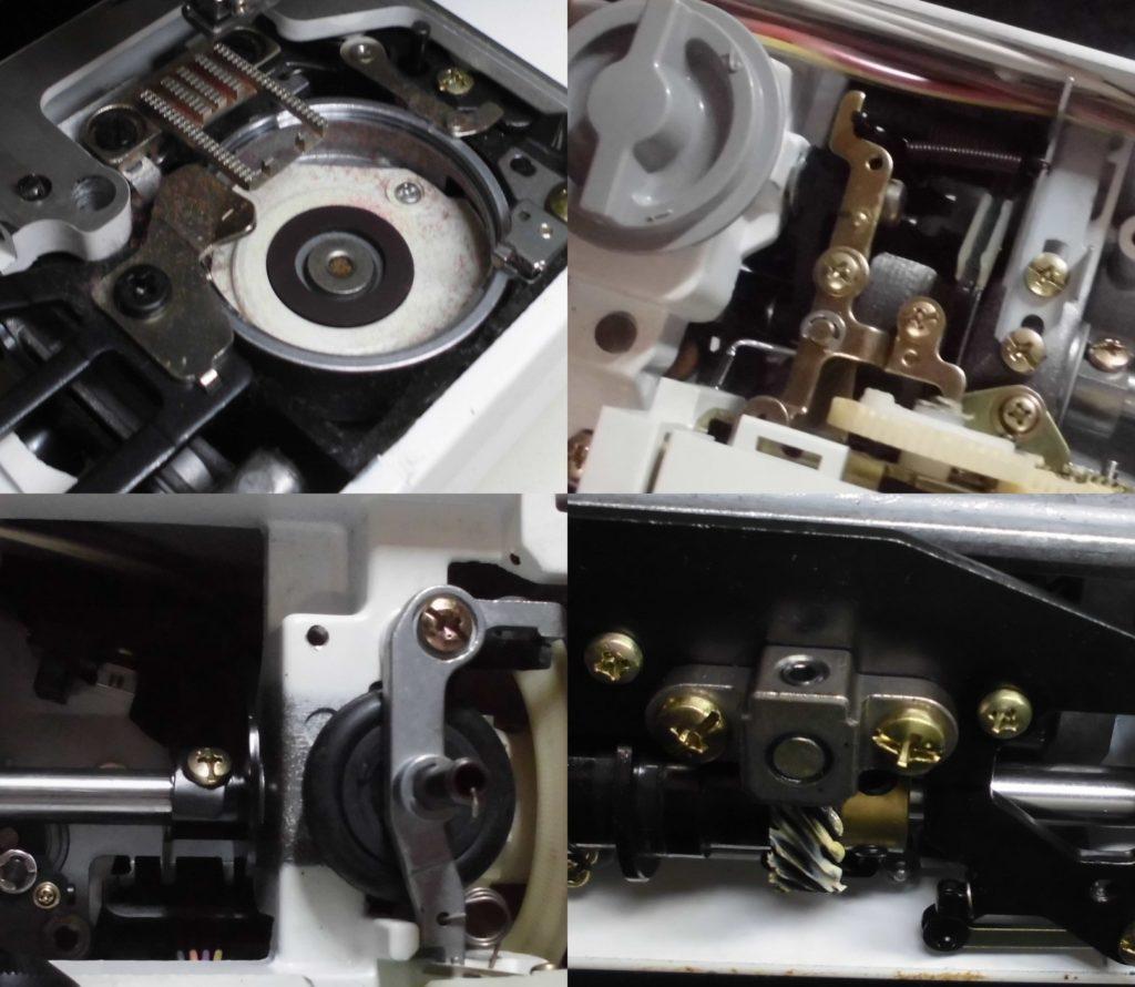 SECIO-EXⅢの全体オーバーホールメンテナンス修理|ジャノメミシン修理