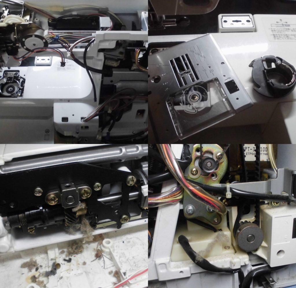 セシオEXの分解オーバーホールメンテナンス修理|ジャノメミシン修理