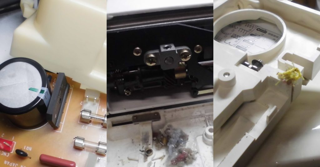 セシオEXの分解オーバーホールメンテナンス修理 ジャノメミシン修理