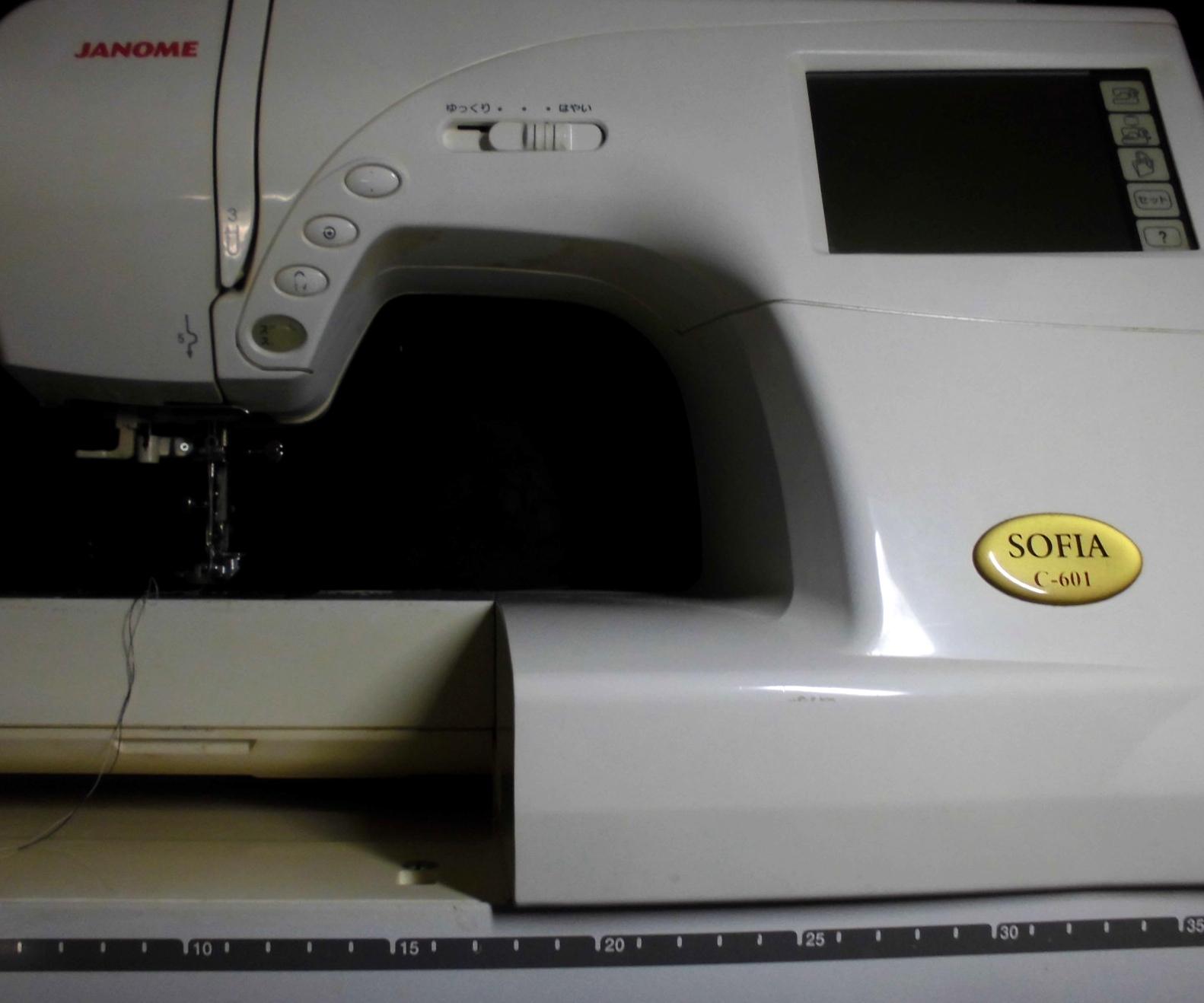 ジャノメミシン修理|ソフィア|C-601|綺麗に縫えない、目飛びする、糸絡み