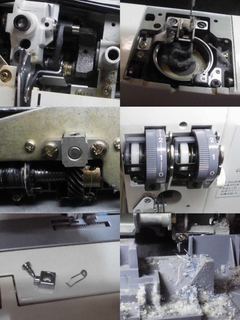 COMBI2200SXの分解オーバーホールメンテナンス修理|ジャノメミシン