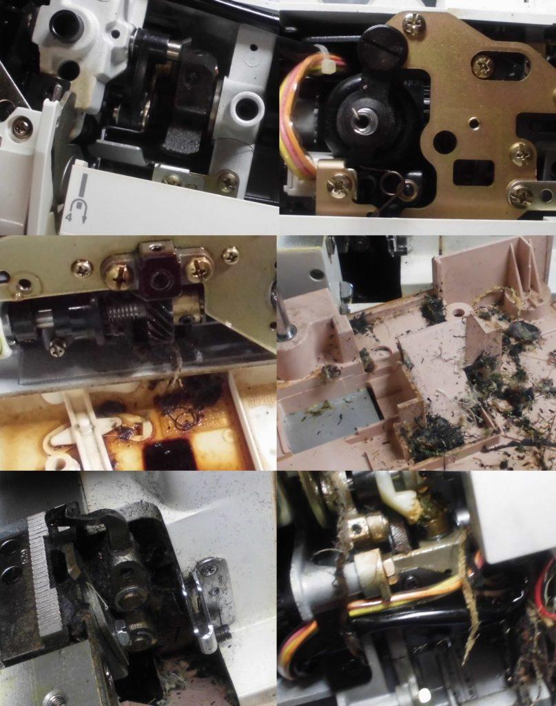 コンビ2300SXの全体オーバーホールメンテナンス修理|ジャノメミシン修理