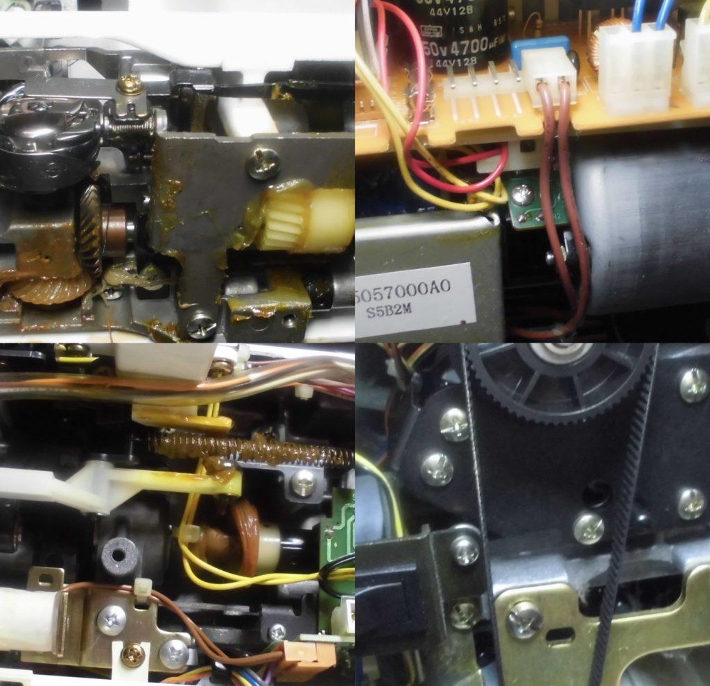 HZL-7900の全体メンテナンス修理 JUKIコンピューターミシン