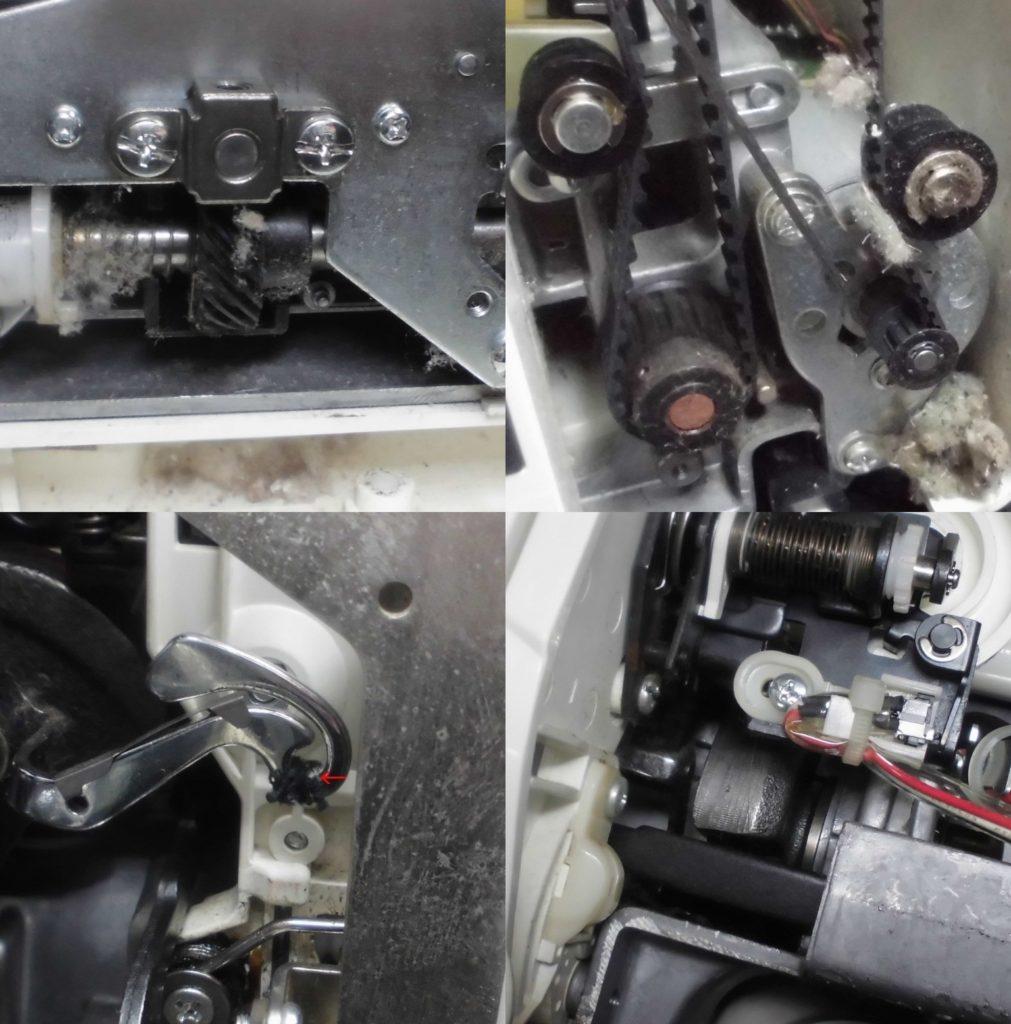 ミシン内部の様子|シェーネⅡ|ジャノメミシン修理