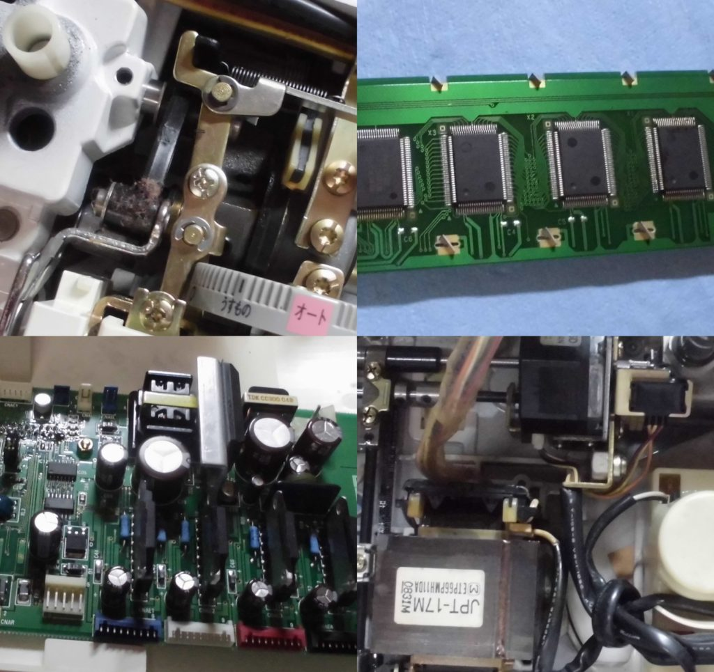ミシンの液晶タッチパネル交換、ミシンのメインコンピューター基板交換