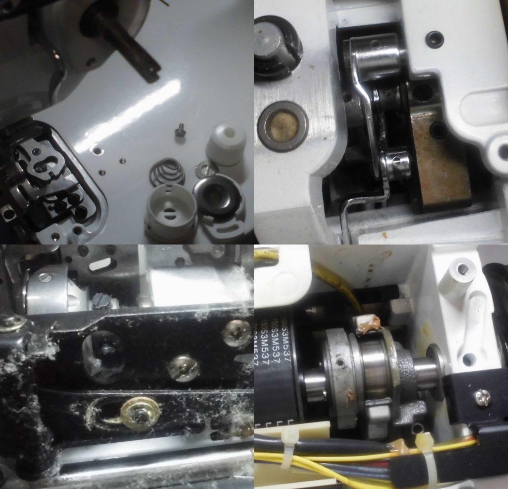 SPUR98specialの全体オーバーホールメンテナンス修理|JUKIミシン
