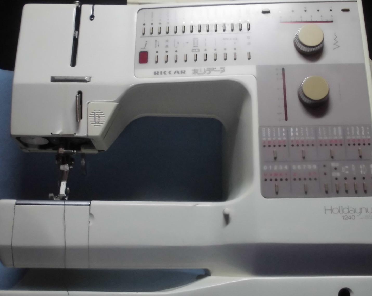 リッカーミシン修理|ホリデーヌ1240|返し縫いのまま戻らなくなってしまった・布を正常に送らない