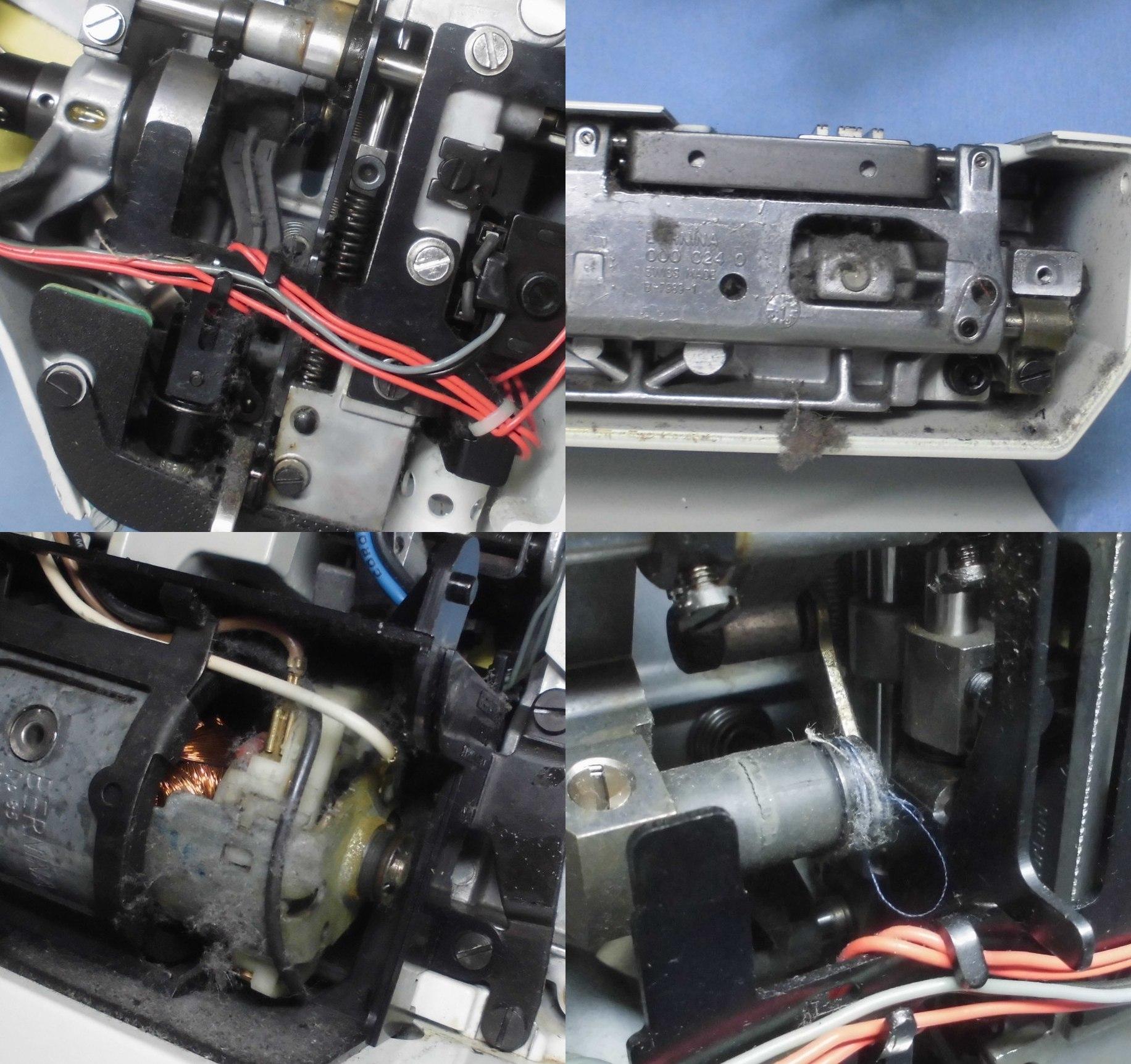 ホリデーヌ1240の故障、不具合|異音、針が下りない、モーター不良、糸絡み