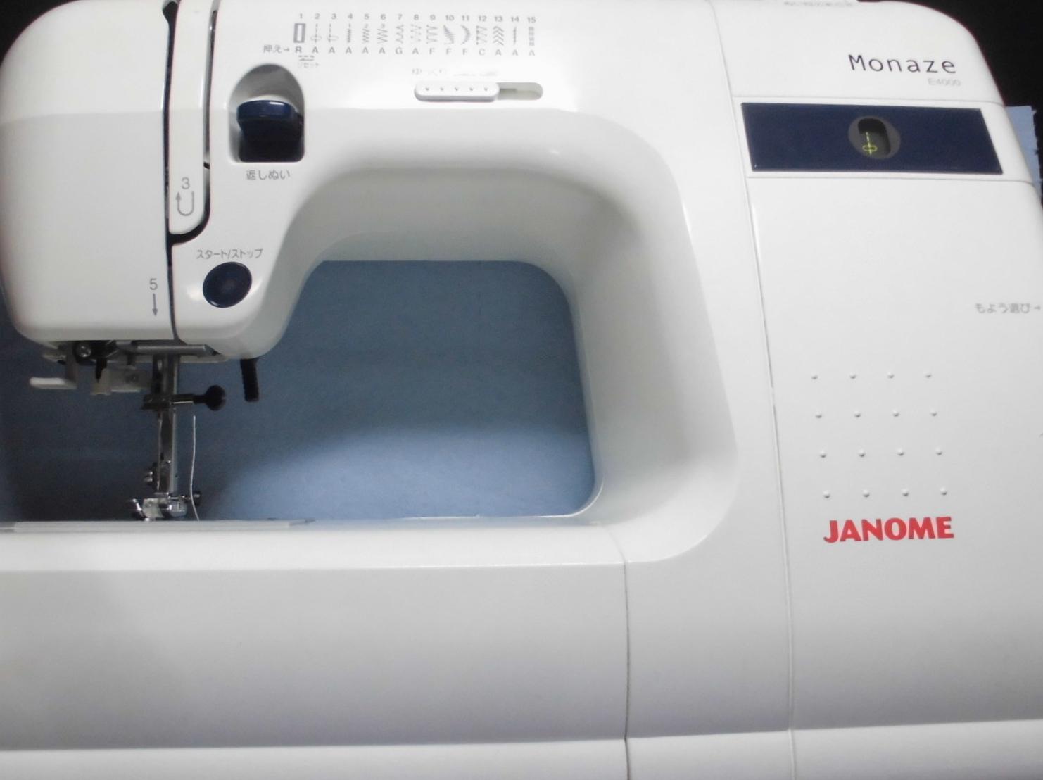 ジャノメミシン修理|モナーゼE4000|ミシンが動かない、ミシンの電源は入る