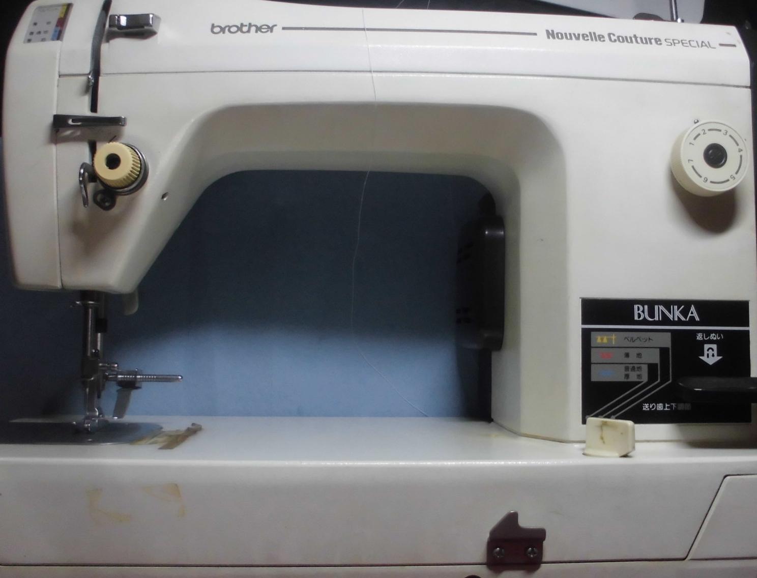 ブラザー職業用ミシンの修理|M727・ヌーベルクチュールスペシャルBUNKA|返し縫い不良