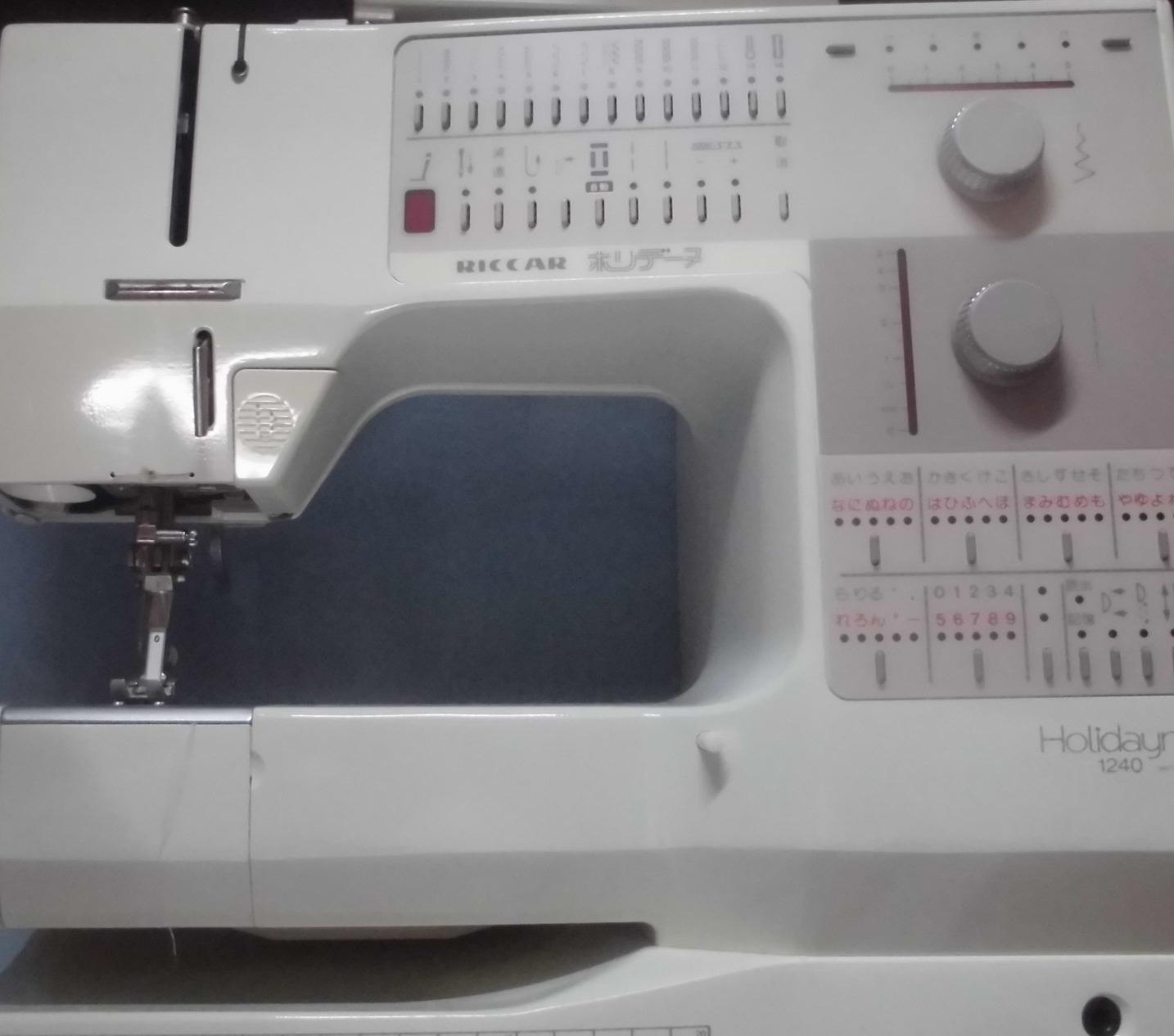リッカーミシンの修理|ホリデーヌ1240|ライトが点かない、返し縫いしない