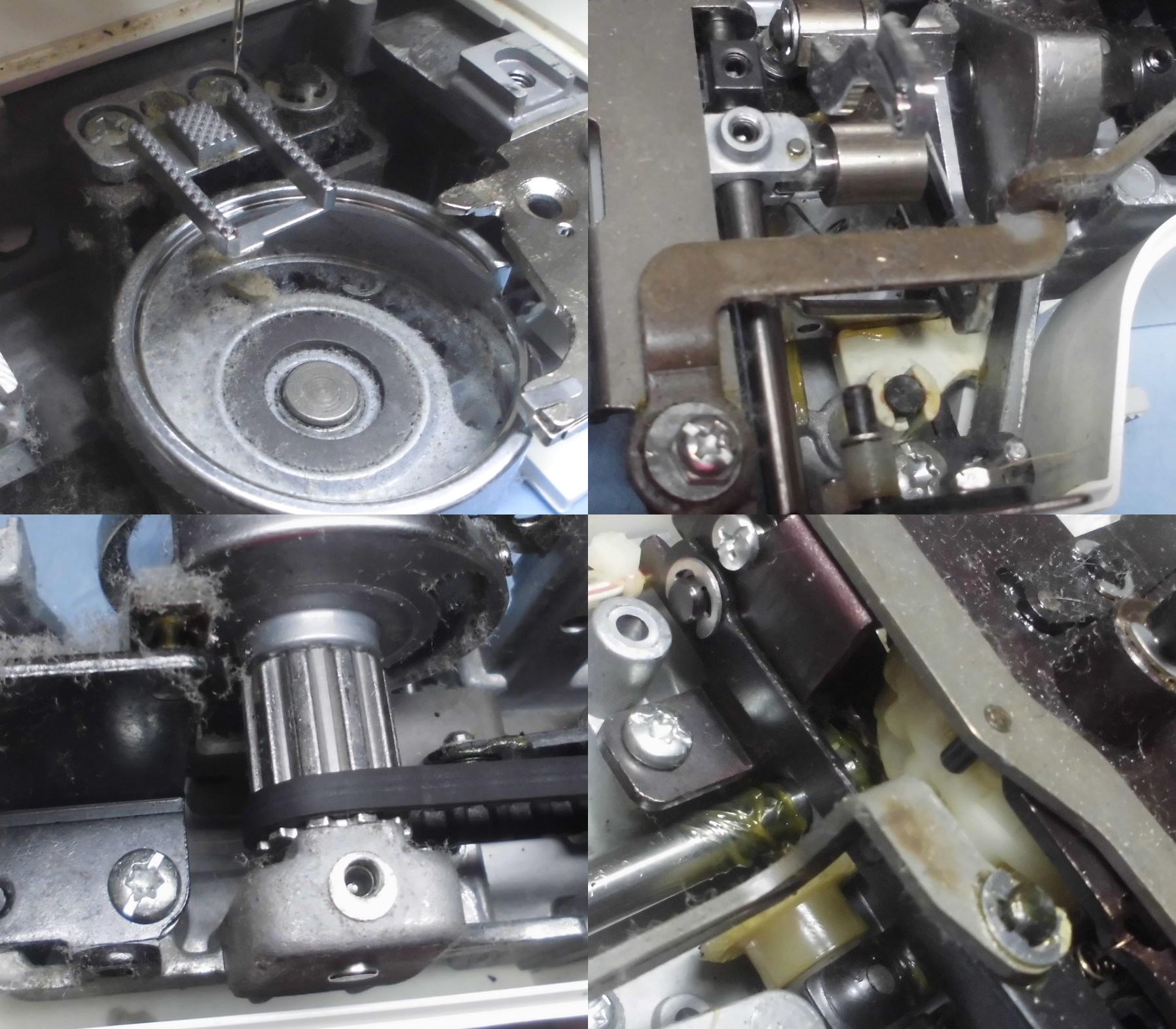 EL117・A31BEの故障や不具合 縫えない、動かない、異音、糸調子不良、針棒が緩い