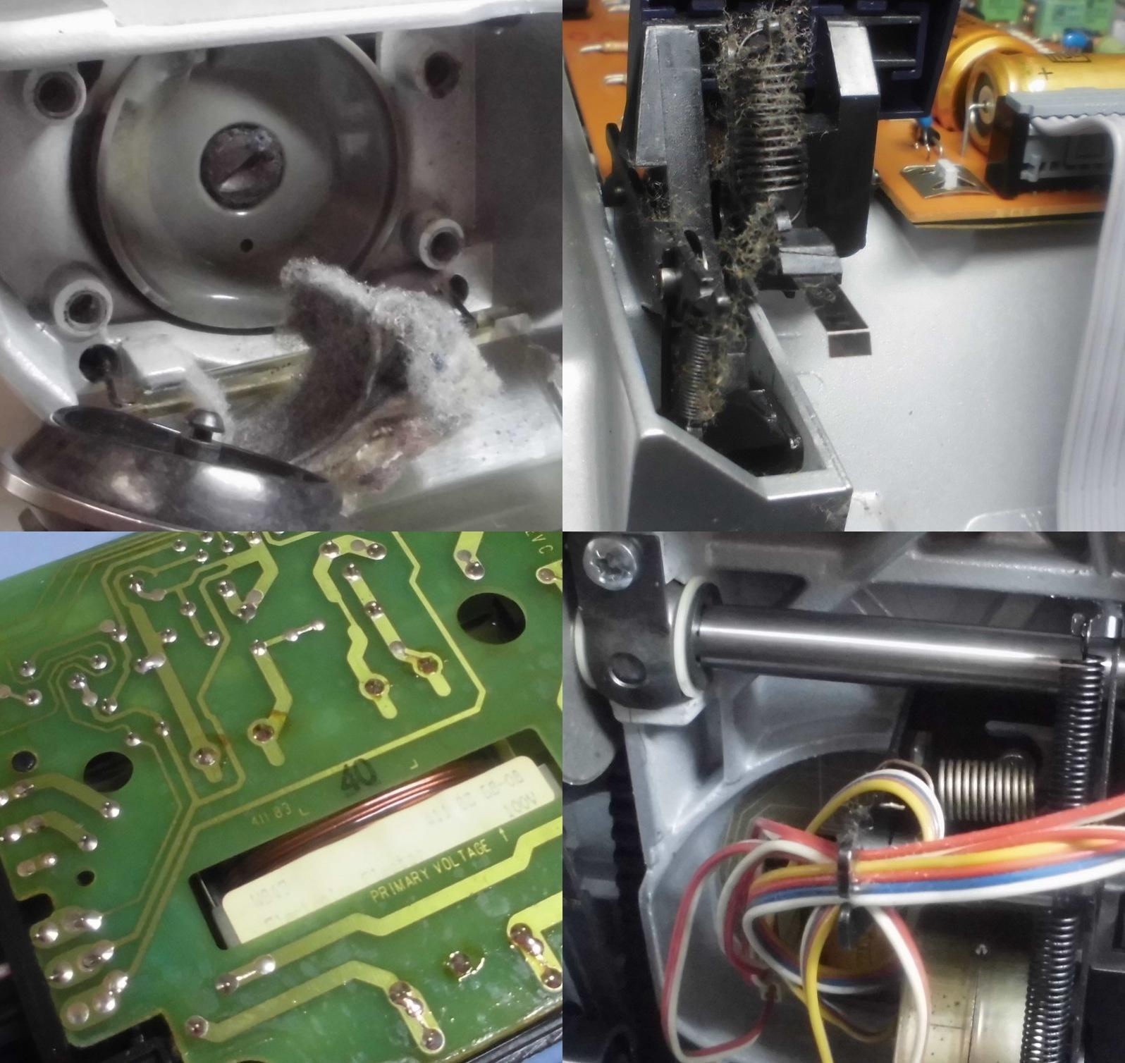 Electrolux990Sの故障や不具合 布を送らない、動かない、下糸が巻けない(ボビン)