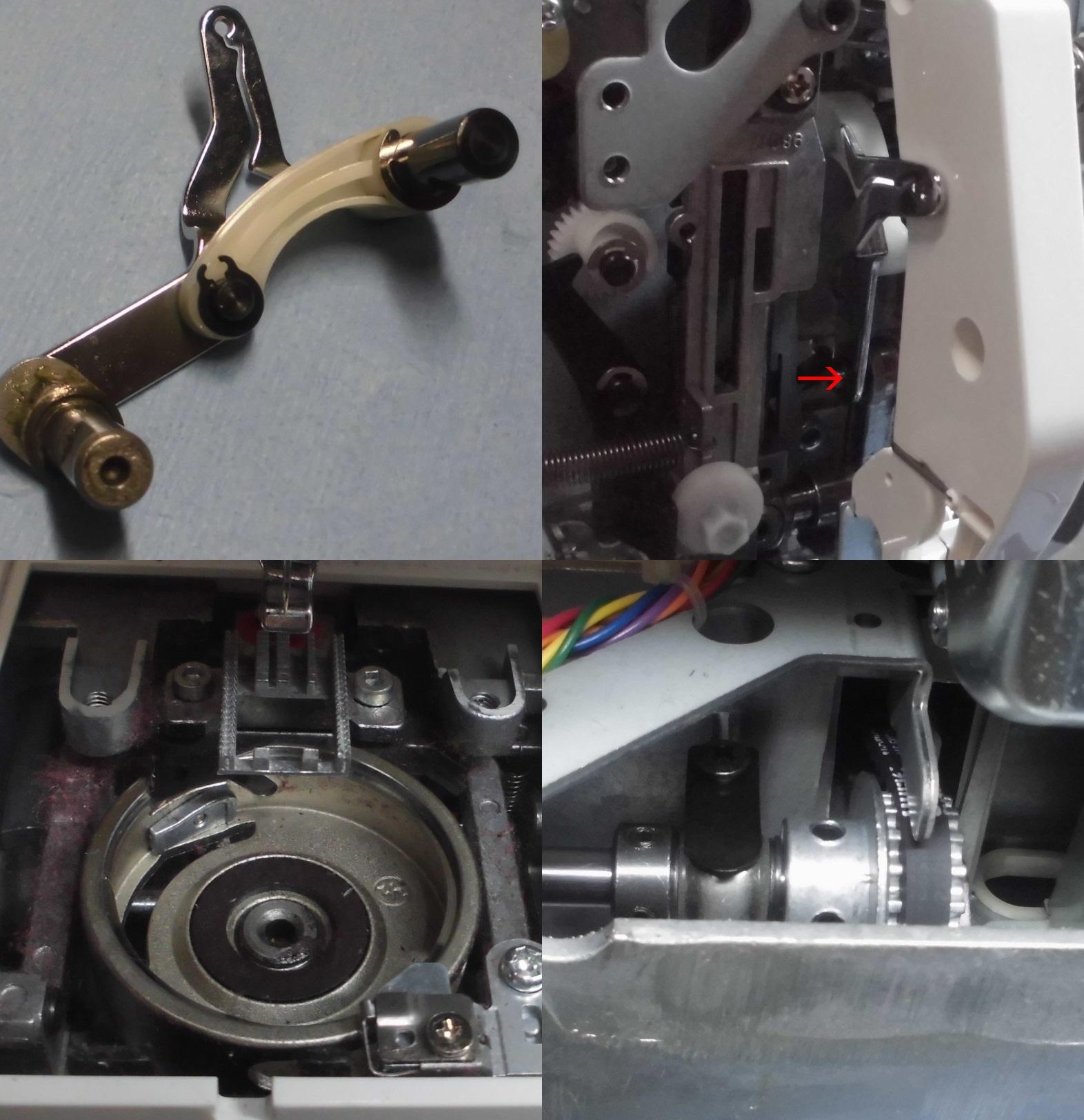 MM-115Pの故障や不具合 縫えない、縫い目が飛ぶ、糸調子不良、部品の破損