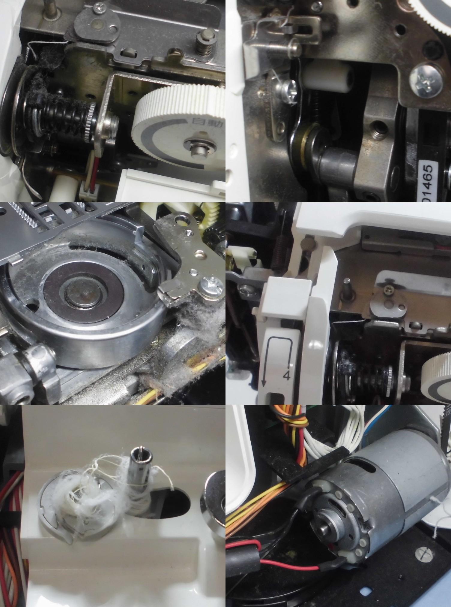 MureⅡCPSE7203の故障や不具合|動かない、はずみ車が回らない、縫えない、糸調子不良