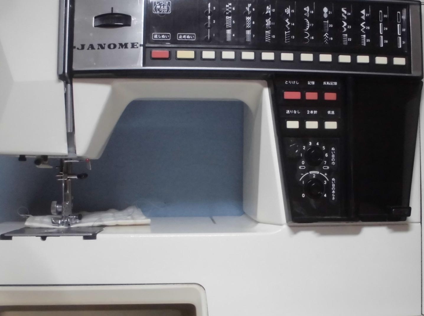 メモリア5002 ジャノメミシンの修理 動かない、縫えない、はずみ車が回らない