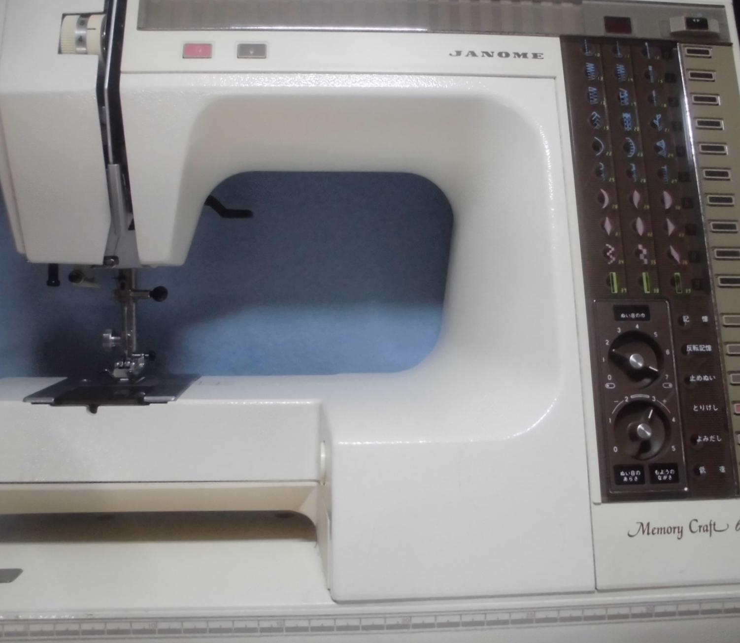ジャノメミシンの修理|メモリークラフト6500|針基線のずれ、ジグザグが縫えない、針が動かない
