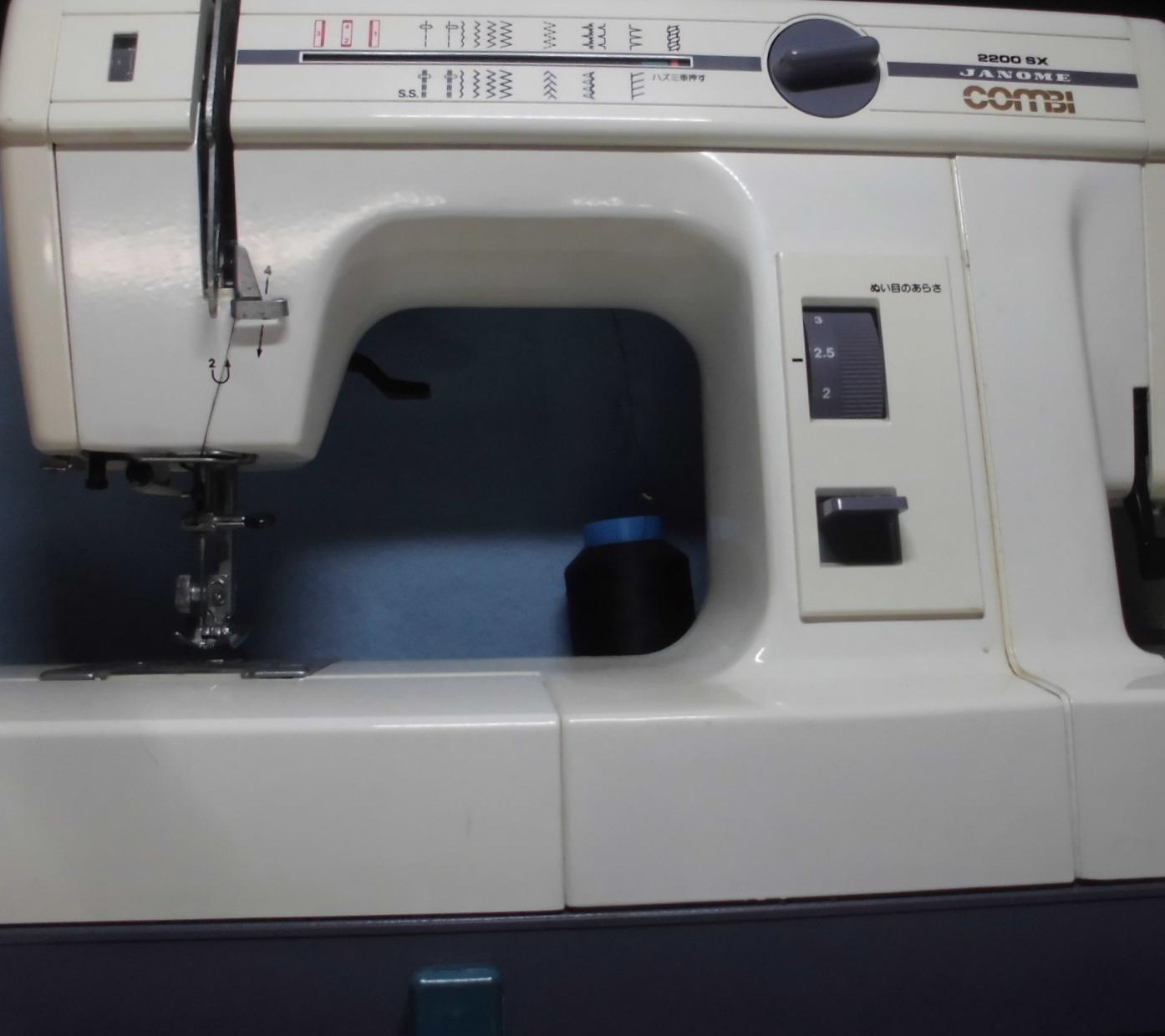 ジャノメミシンの修理|コンビシリーズ(2200SX)|糸が絡まず縫えない、スピードが遅い