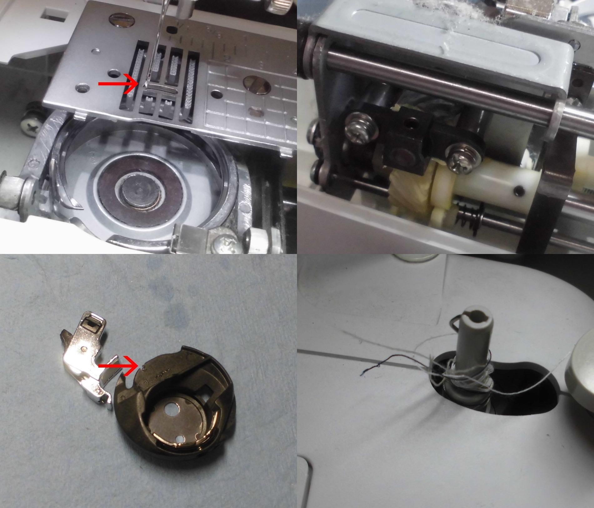 HS102・CPS40の故障や不具合|縫えない、糸が絡まる、エラーE6、下糸を拾わない