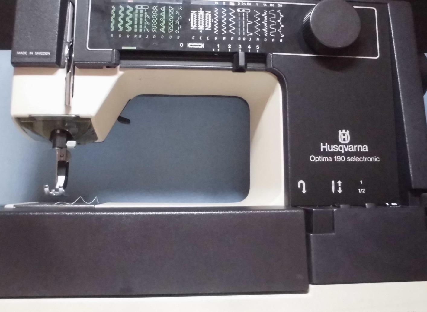 ハスクバーナのミシン修理|オプティマ190|縫えない、油切れ、固着、布を送らない