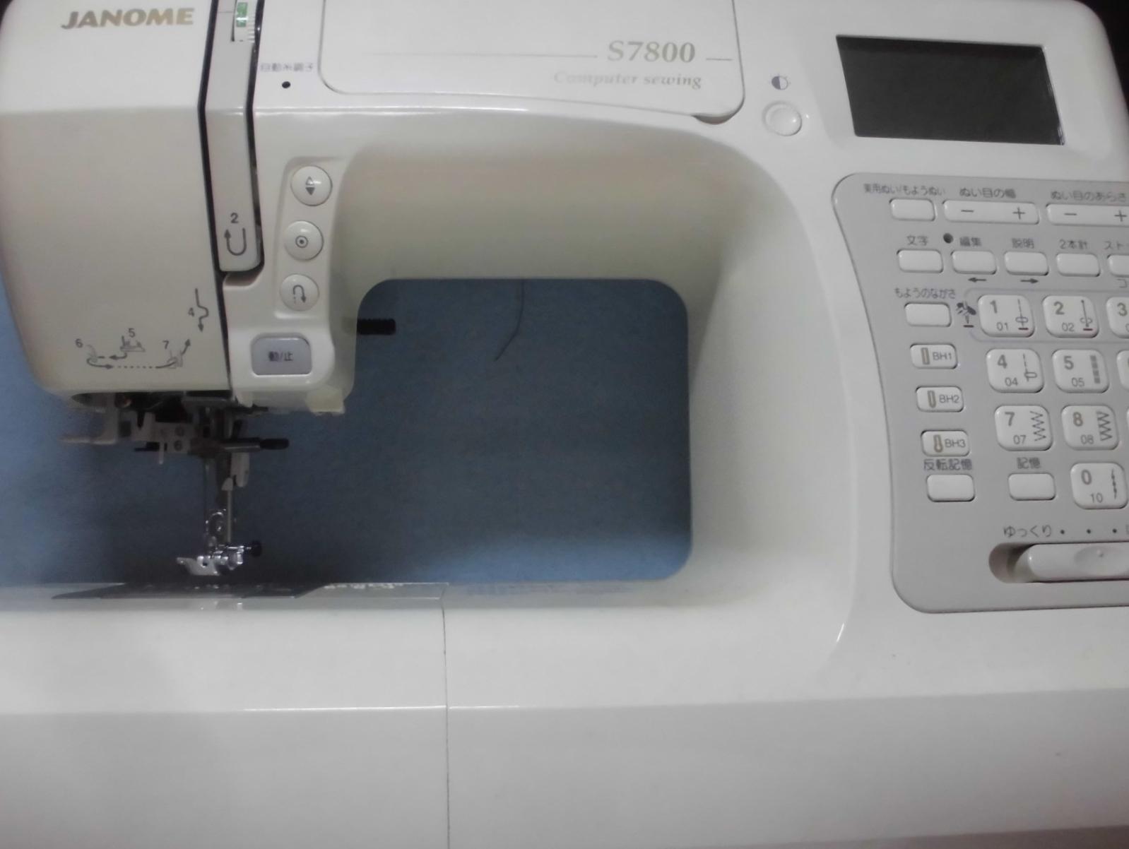 ジャノメミシン修理|S7800|綺麗に縫えない(糸調子不良)、ボビンに上手く糸が巻けない